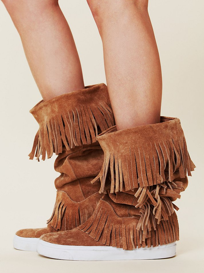 Lyst Jeffrey Campbell Sedona Moccasin Boot In Brown
