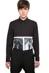 Givenchy Double Skull Woman Cotton Poplin Shirt - Lyst