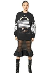 Givenchy Printed Cotton Fleece Sweatshirt - Lyst