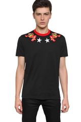 Givenchy Cuban Fit Printed Cotton Jersey T-Shirt - Lyst