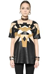 Givenchy Patchwork Nappa Leather Top - Lyst