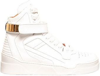 Givenchy Matte Leather High Top Sneakers - Lyst