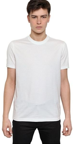 givenchy pervert 17 cuban fit cotton jersey shirt in white for men lyst. Black Bedroom Furniture Sets. Home Design Ideas