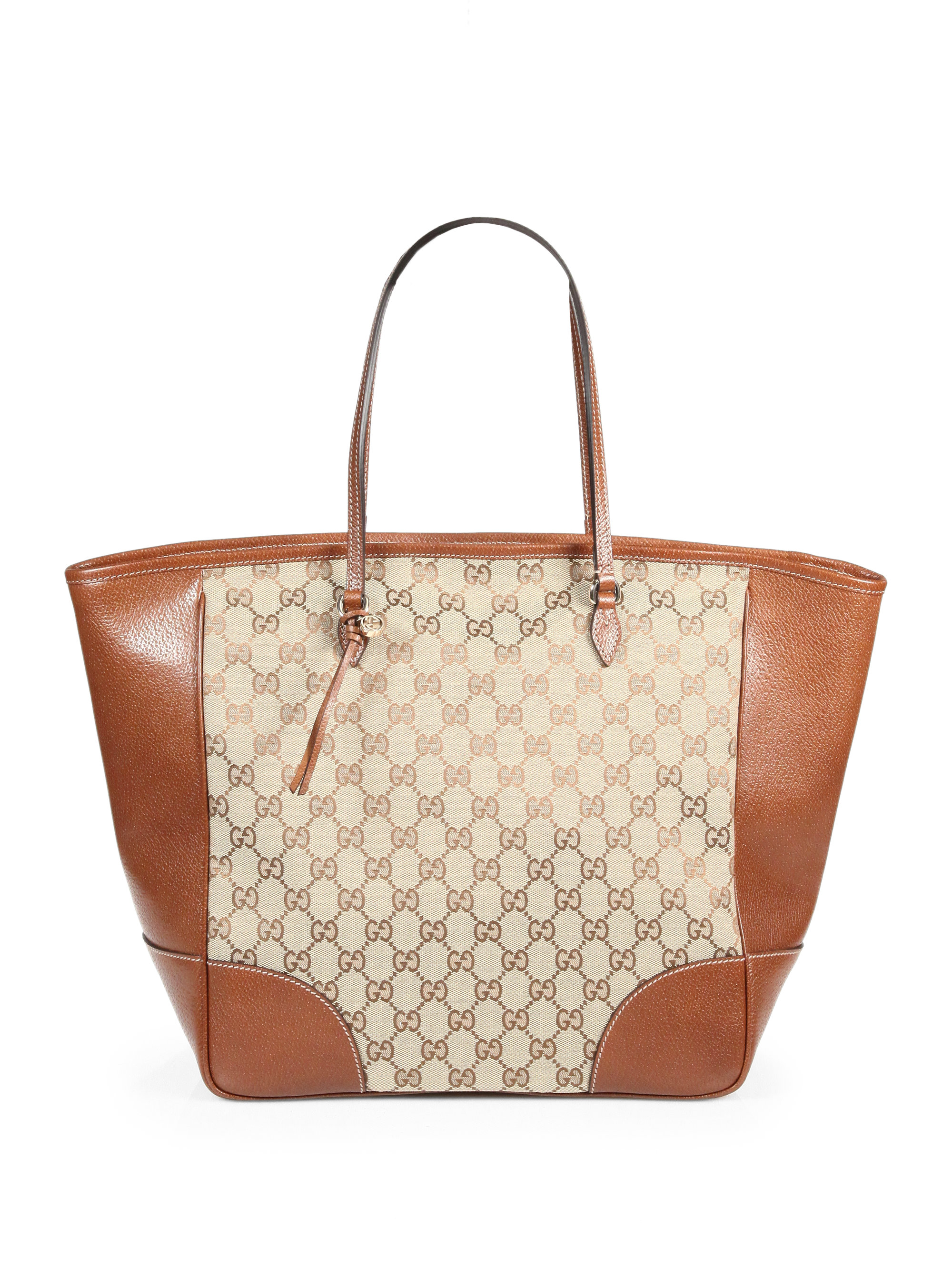 c9aaa2a6bdf Lyst - Gucci Bree Original GG Canvas Tote in Brown