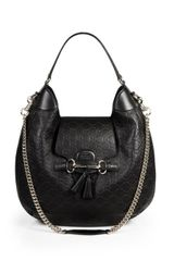 Gucci Emily Ssima Leather Hobo