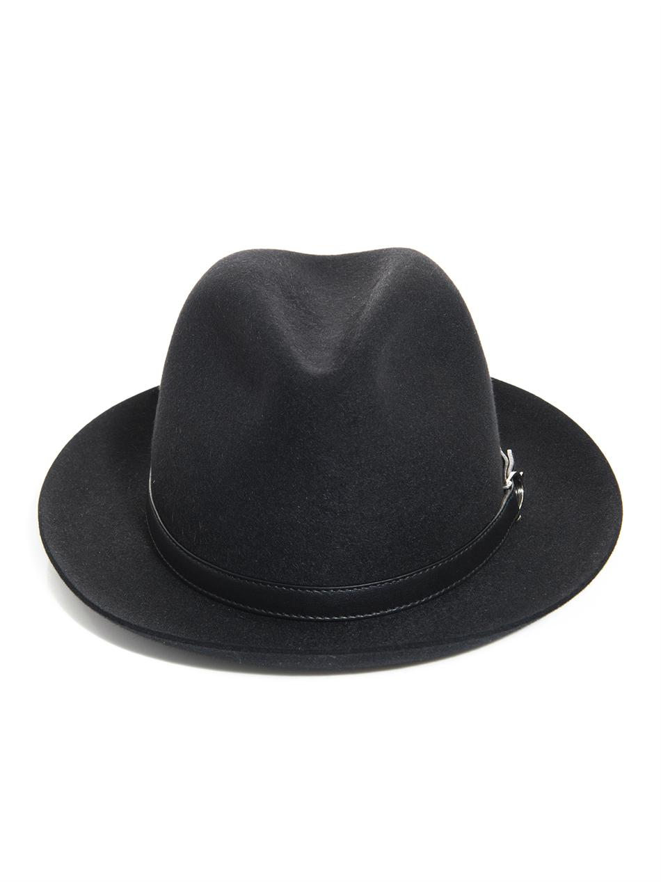 d7502ef90e0cae Lyst - Gucci Felt Fedora Hat in Black for Men
