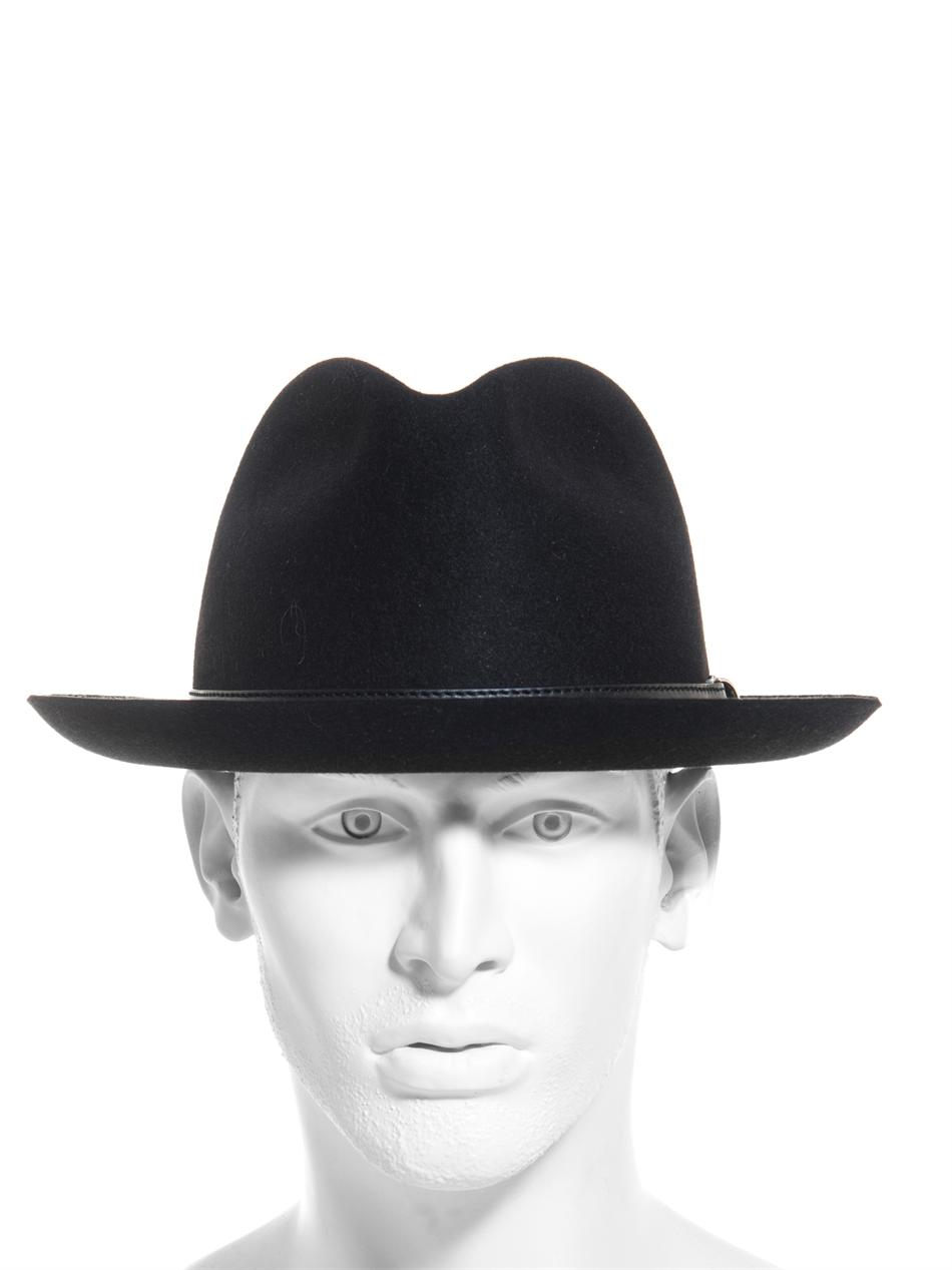5b4146af77e Lyst - Gucci Felt Fedora Hat in Black for Men