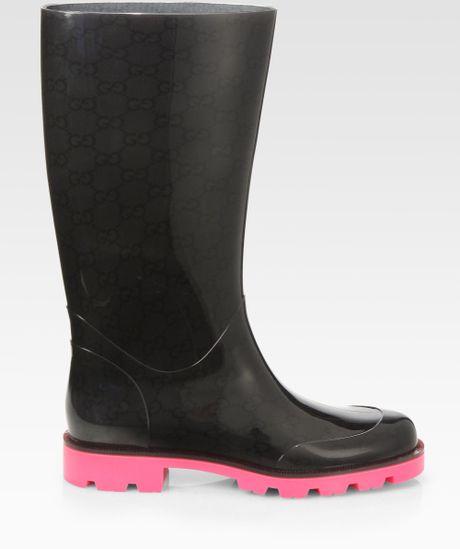 Creative Gucci Women39s Logo Rain Boots  13269054  Overstockcom Shopping
