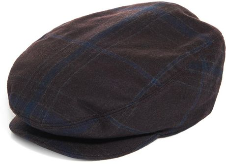 Gucci Check Flat Cap In Purple For Men Burgundy Lyst
