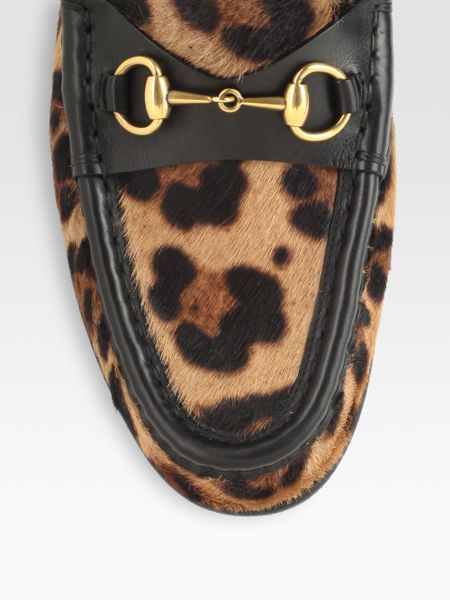 Gucci Horsebit Pony Hair Leather Loafers In Animal