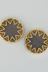 House Of Harlow Crystal Starburst Stud Earrings - Lyst