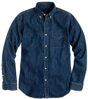 J.Crew Mid-weight Denim Shirt - Lyst