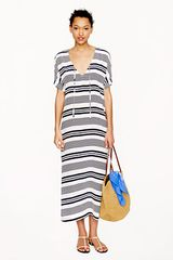 J.Crew Silk Stripe Maxidress - Lyst