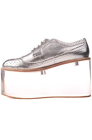 7c7b2fc09a7 Lyst - Jeffrey Campbell The Siren Shoe in Metallic