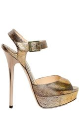 Jimmy Choo 145mm Raven Metallic Lizard Print - Lyst