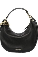 Jimmy Choo Small Solar Deerskin Shoulder Bag - Lyst