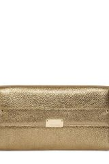 Jimmy Choo Large Reese Laminated Leather Clutch - Lyst