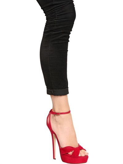30aaf7cab56 Lyst - Jimmy Choo Greta Suede Sandals in Red