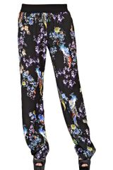 Just Cavalli Printed Silk Satin Trousers - Lyst