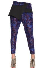 Just Cavalli Oriental Flower Velvet Devoré Trousers - Lyst