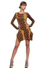 Just Cavalli Python Print Stretch Jersey Dress - Lyst