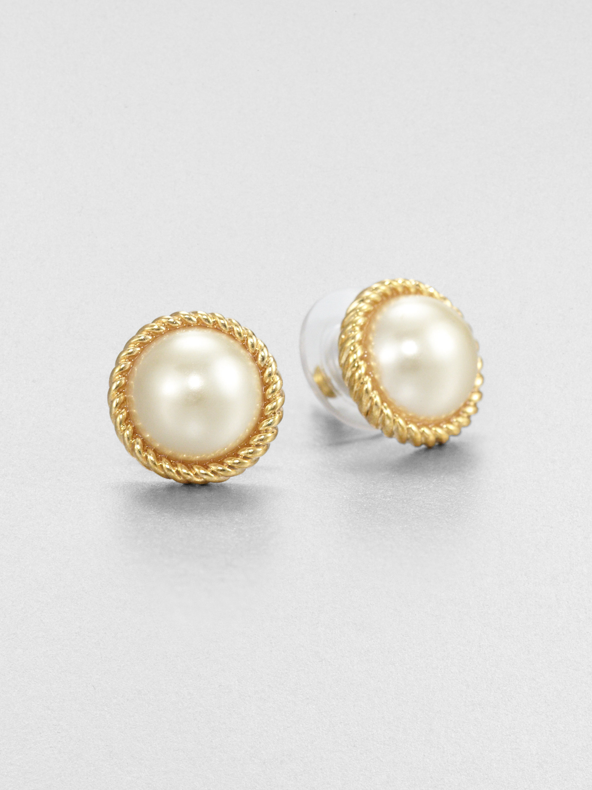 Lyst Kate Spade New York Seaport Faux Pearl Button