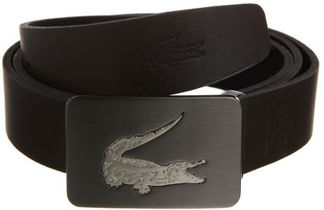 lacoste ceinture homme belt black in black for men lyst. Black Bedroom Furniture Sets. Home Design Ideas
