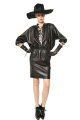 Lanvin Gathered Nappa Leather Jacket - Lyst