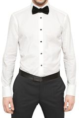 Lanvin Striped Shirting Cotton Tuxedo Shirt - Lyst