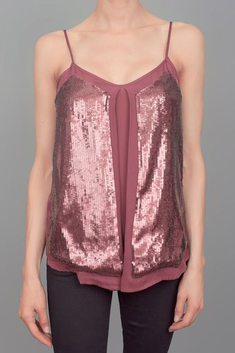 Madison Marcus Sequin Top Plum - Lyst