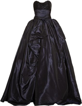 Marchesa Embellished Lace and Silktaffeta Gown - Lyst