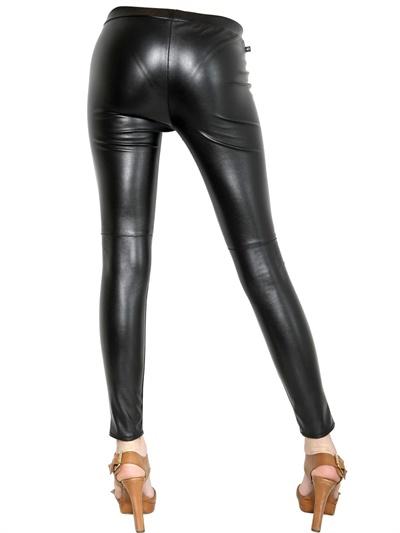 7fd1691f474b6b MICHAEL Michael Kors Super Stretch Faux Leather Leggings in Black - Lyst