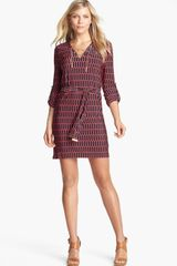 Michael by Michael Kors Laceup Jersey Dress Petite - Lyst