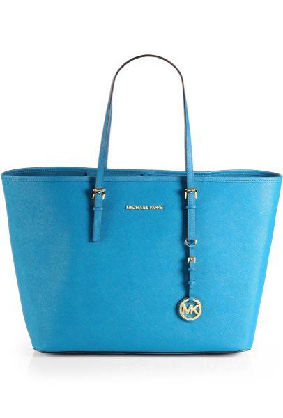 michael michael kors medium travel tote bag in blue