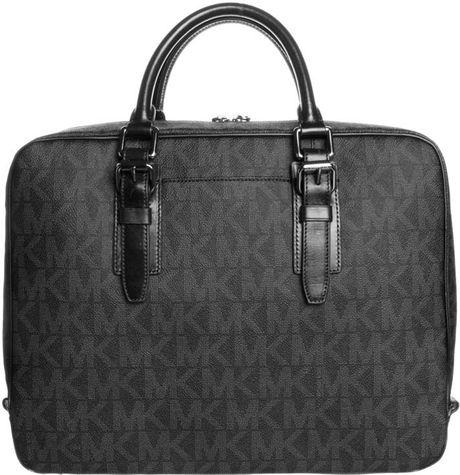michael kors laptop bag black in black for men lyst