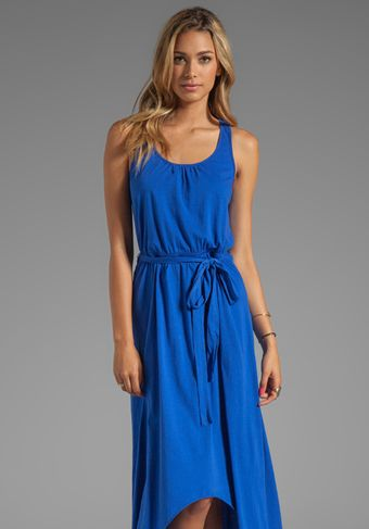 Michael Stars Jersey Knit Sleeveless Scoop Neck Racerback Hilo Maxi Dress in Blue - Lyst