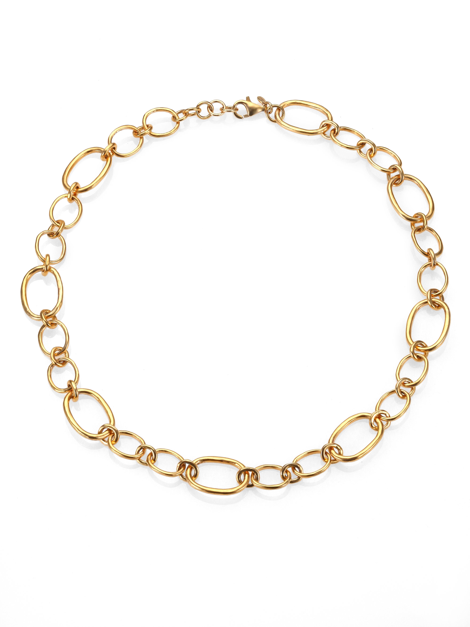 chain watches overstock gold double today necklace in jewelry eternity tone link oval product free open three shipping