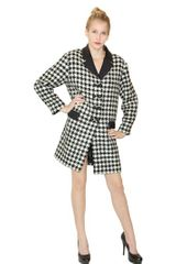 Moschino Cheap&chic Houndstooth Pattern Wool Coat - Lyst