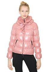 Moschino Cheap&chic Ruffled Quilted Nylon Down Jacket - Lyst