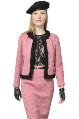 Nina Ricci Wool Bouclè Trim Wool Tweed Jacket - Lyst