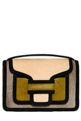 Pierre Hardy Color Blocked Ponyskin Shoulder Bag - Lyst