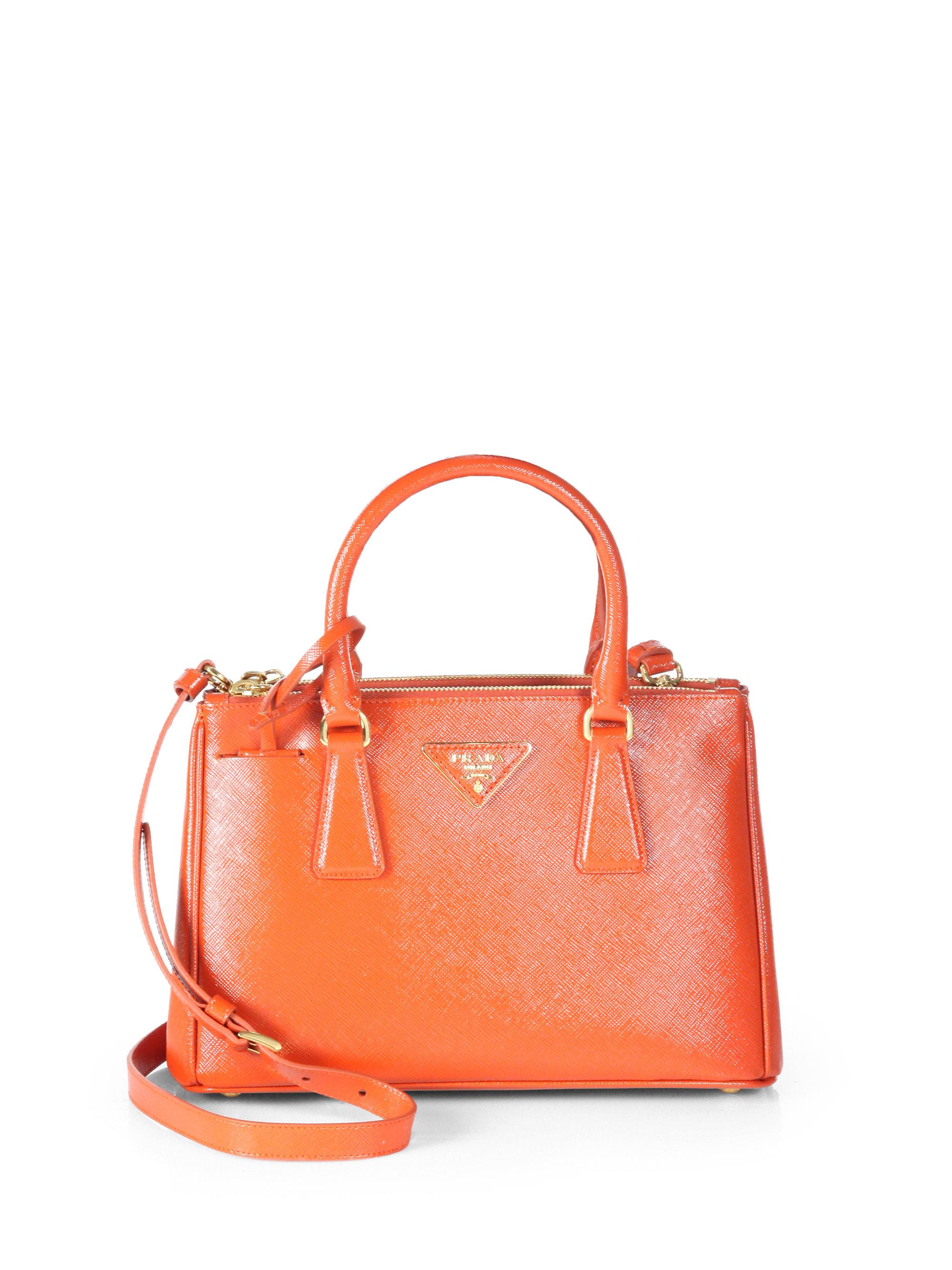 Prada Saffiano Vernice Tote Bag in Orange (arancio-orange)  ffc0e52aaefbc