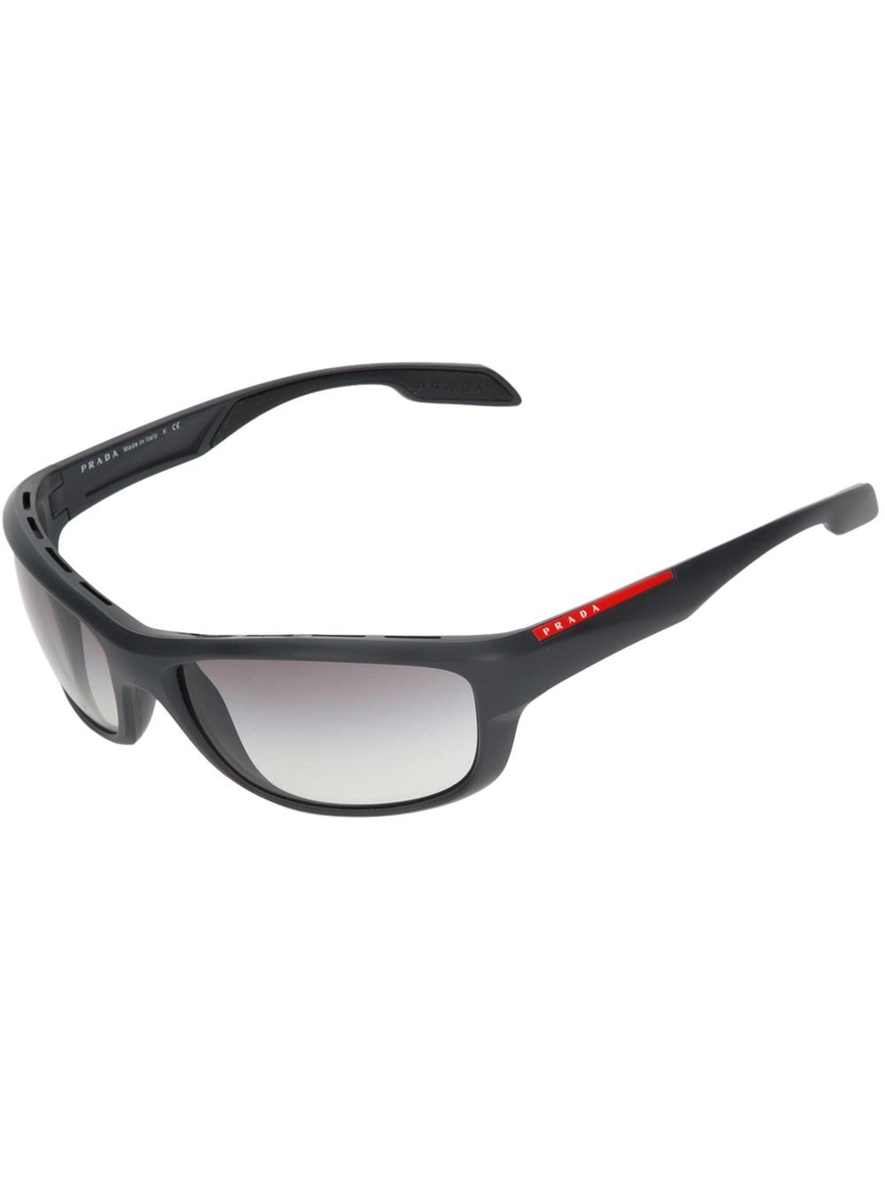 358b80716fe0 discount prada pr57ls 5av3m1 sunglasses shade station f72b1 41c72  sweden prada  wrap around sunglasses in gray for men lyst 1a844 8e801
