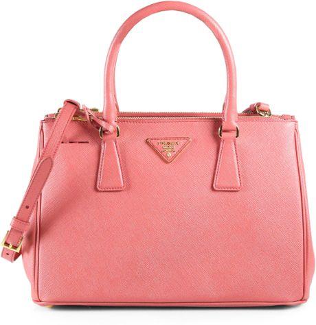 e35c07be98c5 Prada Saffiano Lux Small Tote Bag in Pink (tamaris-pink)