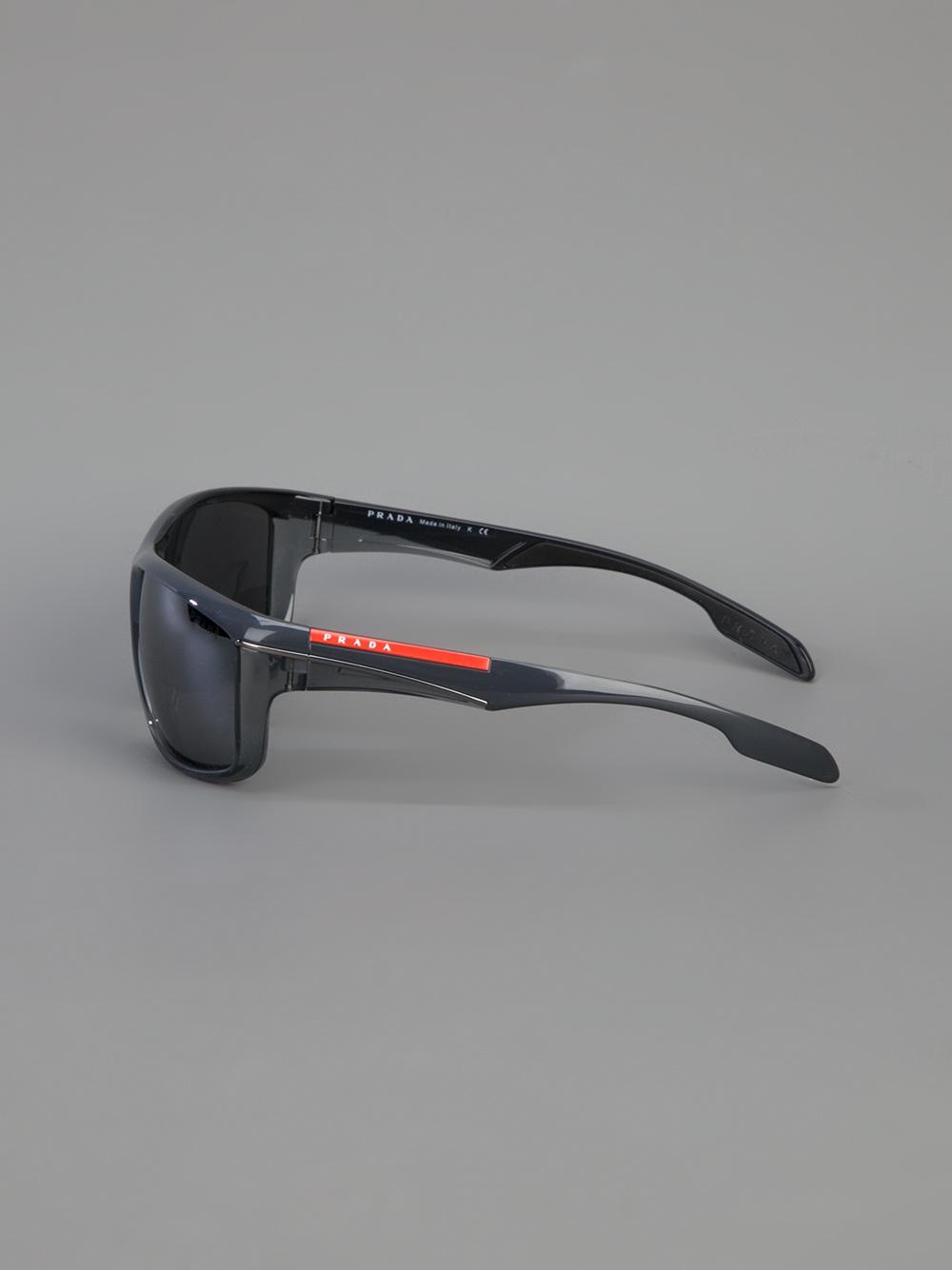 c714fd95ee37 ... reduced lyst prada wrap around sunglasses for men ce1a5 f4edc
