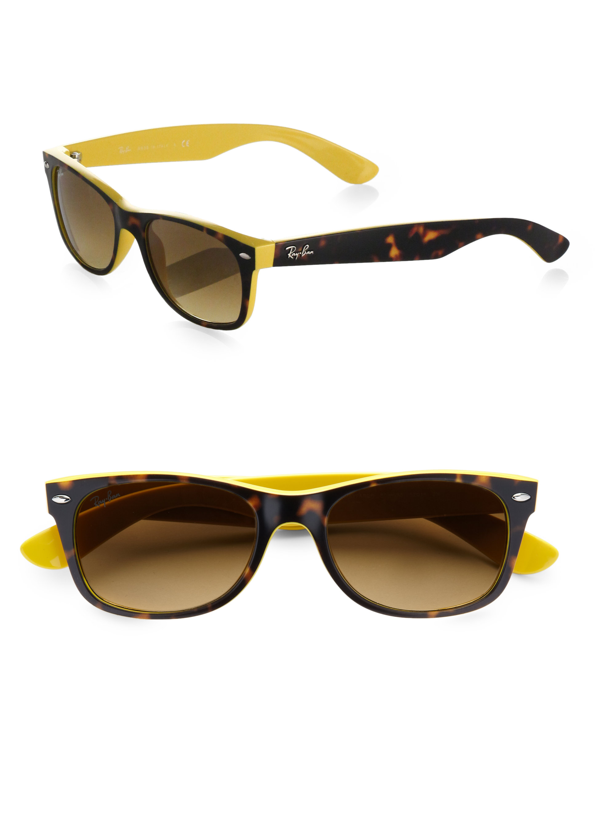 Lyst Ray Ban New Wayfarer Sunglasses In Yellow