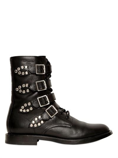 Saint Laurent Leather Biker Boots Pick A Best Outlet Newest Cheap Price Top Quality Cheap Sale Genuine cgzhs