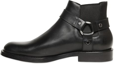Saint Laurent Chelsea Low Motorcycle Boots In Black For