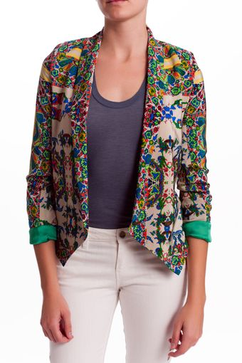 Twelfth Street by Cynthia Vincent Printed Shawl Jacket - Lyst