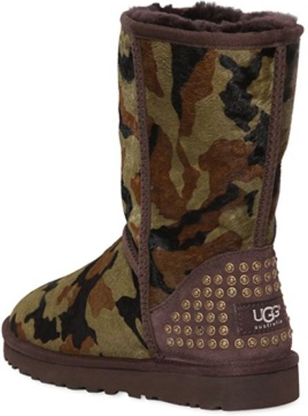 Ugg Rowland Pony Camouflage Boots In Multicolor Military